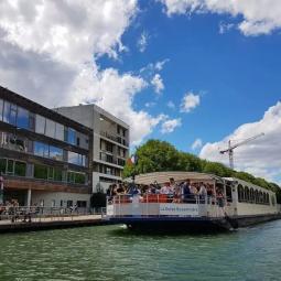 Croisière Le canal de l'Ourcq, passé industriel et visite de la Brasserie Demory