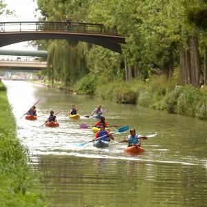 Séance découverte en canoë-kayak sur l'Ourcq