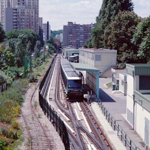 base d'essai de la ligne 14 du métro (en 1996)